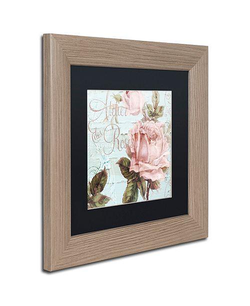 """Trademark Global Color Bakery 'Atelier De Roses' Matted Framed Art, 11"""" x 11"""""""