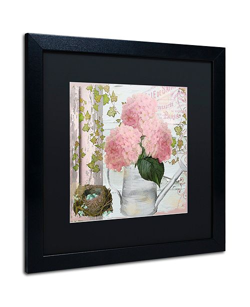 "Trademark Global Color Bakery 'Chalet D'Ete Hydrangea' Matted Framed Art, 16"" x 16"""