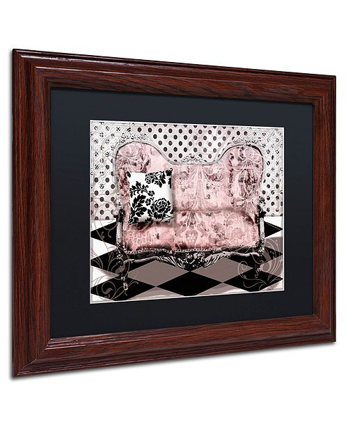 "Trademark Global Color Bakery 'Poitrine Rose' Matted Framed Art, 11"" x 14"""