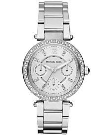 Michael Kors Women's Chronograph Mini Parker Stainless Steel Bracelet Watch 33mm MK5615