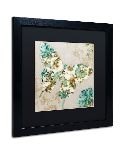 """Trademark Global Color Bakery 'Winged Tapestry Ii' Matted Framed Art, 16"""" x 16"""""""