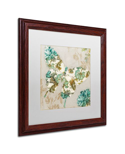 "Trademark Global Color Bakery 'Winged Tapestry Ii' Matted Framed Art, 16"" x 16"""