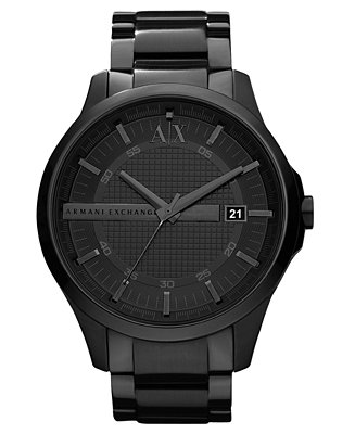 A X Armani Exchange Watch Men S Black Ion Plated