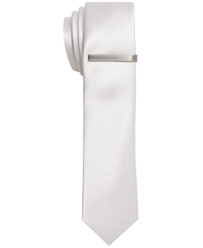 Alfani Solid Sateen Skinny Tie