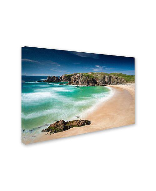 """Trademark Global Michael Blanchette Photography 'Beach At Mangersta' Canvas Art, 12"""" x 19"""""""