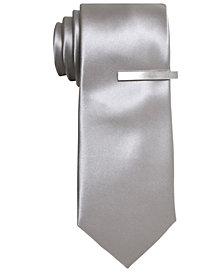Alfani Men's Silver Skinny Tie, Created for Macy's