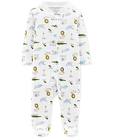 Carter's Little Planet Organics Baby Boys Animal-Print Footed Cotton Coverall
