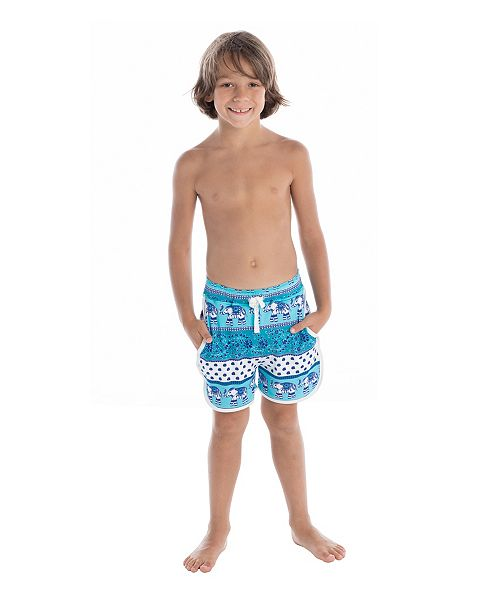 Masala Baby Boys Swim Shorts Passage To India Turquoise Sets