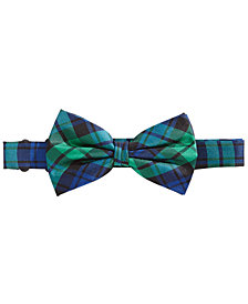 Lauren Ralph Lauren Big Boys Plaid Silk Bow Tie