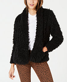 Material Girl Juniors' Faux-Fur Jacket, Created for Macy's