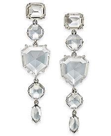 kate spade new york Silver-Tone Crystal Linear Drop Earrings
