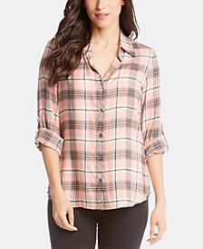 Karen Kane Plaid Utility Shirt