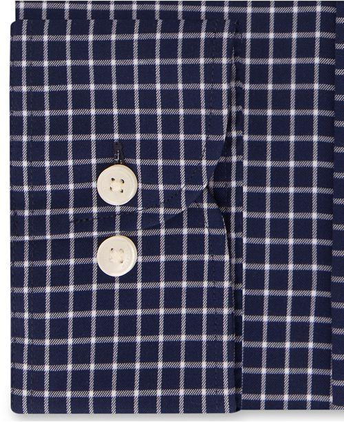 452643474 Tommy Hilfiger Men's Slim-Fit TH Flex Performance Stretch Non-Iron Navy Check  Dress ...