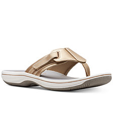 Clarks Collection Women's Brinkley Sail Flip-Flops, Created for Macy's