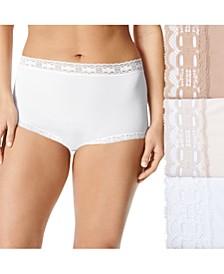 Women's 3-Pk. Plus Size Secret Hug Lace Trim Brief Underwear 873J3