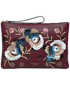 Radley London Embellished Ziptop Leather Pouch