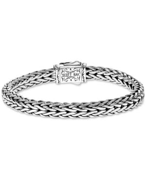 SCOTT KAY Men'S Woven Link Bracelet In Sterling Silver & 18K Gold