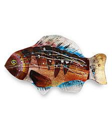 "18"" Brown Gills Fish Plate"