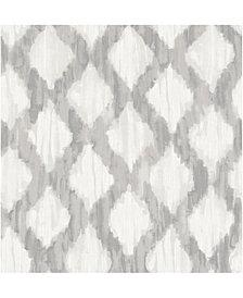 Grey Floating Trellis Peel And Stick Wallpaper
