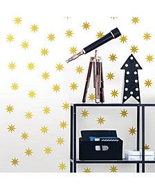 Metallic Gold Stars Wall Art Kit Set Of 2