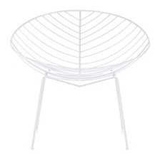 Hyde Outdoor Lounge Chair White (Set of 2)