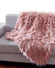 Mongolian Textured Faux Fur Throw