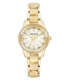 Anne Klein Light Goldtone Mother of Pearl Dial Watch