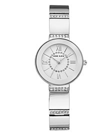 Anne Klein Sandblast Dial with Roman Numerals and Swarovski Crystals