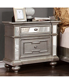 Contemporary Style Night Stand,Silver