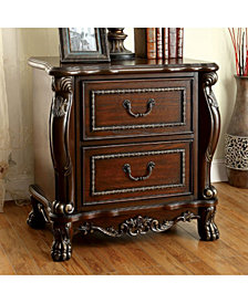 Traditional Style Night Stand, Cherry