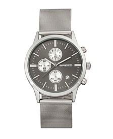 Quartz Espinosa Chronograph Silver And Black Alloy Watches 42mm