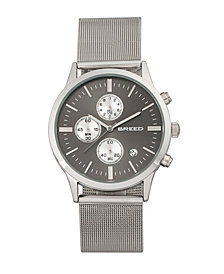 Breed Quartz Espinosa Chronograph Silver And Black Alloy Watches 42mm