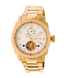 Automatic Helmsley Gold & White Stainless Steel Watches 45mm