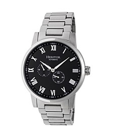 Automatic Romulus Silver & Black Stainless Steel Watches 44mm