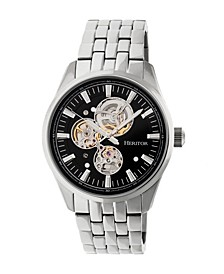 Automatic Stanley Silver & Black Stainless Steel Watches 43mm