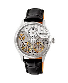 Heritor Automatic Winthrop Silver Leather Watches 41mm