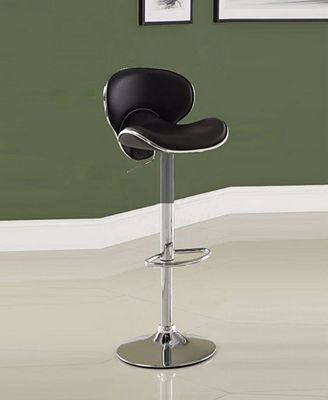 Benzara Leather Metal Bar Stool With Adjustable Height Furniture