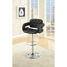Chair Style Bar Stool with Tufted Seat and Back
