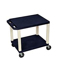 Clickhere2shop OF-WT26ZE-P Multipurpose Utility A/V Cart - 2 Shelves - Putty Legs