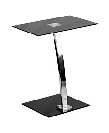 Offex Laptop Computer Desk with Silk Tempered Glass Top