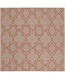 "Surya Alfresco ALF-9588 Camel 7'3"" Square Area Rug"
