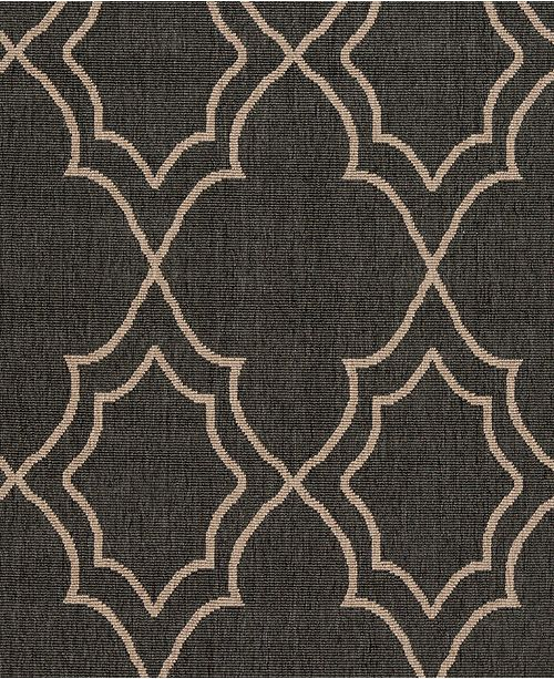 "Surya Alfresco ALF-9590 Black 18"" Square Swatch"