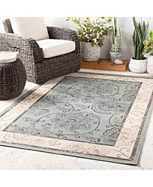 "Alfresco ALF-9594 Sage 7'3"" Round Area Rug, Indoor/Outdoor"