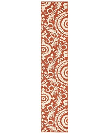 "Surya Alfresco ALF-9613 Rust 2'3"" x 7'9"" Runner Area Rug, Indoor/Outdoor"