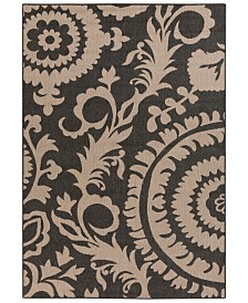"Surya Alfresco ALF-9615 Black 3' x 5'6"" Area Rug, Indoor/Outdoor"