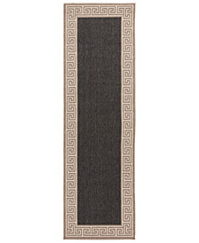 "Surya Alfresco ALF-9626 Black 2'3"" x 7'9"" Runner Area Rug"