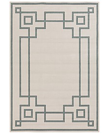 Alfresco ALF-9629 Sage 6' x 9' Area Rug, Indoor/Outdoor
