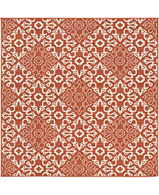 "Surya Alfresco ALF-9636 Rust 8'9"" Square Area Rug"