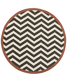 "Surya Alfresco ALF-9646 Black 8'9"" Round Area Rug"