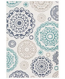 Surya Alfresco ALF-9665 Teal 6' x 9' Area Rug, Indoor/Outdoor